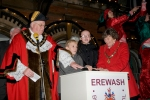 Mayor and Mayoress Switching on xmas Lights