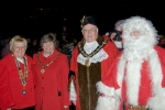Left to Right - Unknown, Mayoress, Mayor Of Erewash, Santa